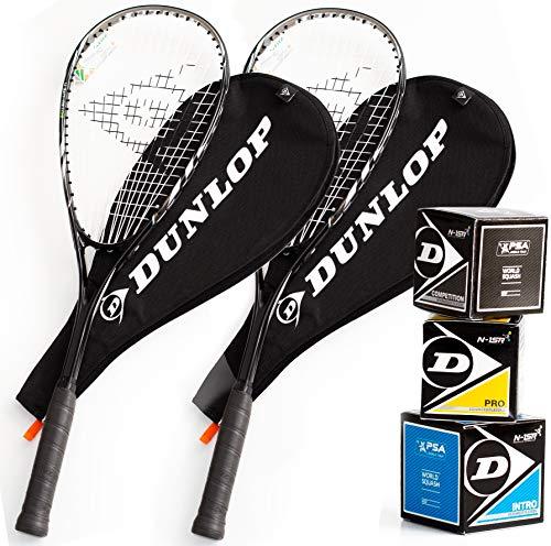 Dunlop Squashset: Biotec Lite Ti Silver Deluxe
